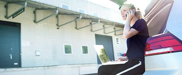 Erhverv mobil - med mobilt bredbånd fra Uni-tel kan du arbejde overalt