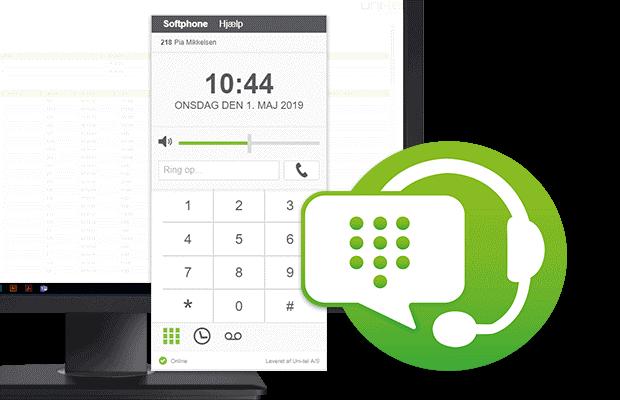 Uni-tel softphone sammen med One-Connect